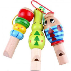 Baby Børn Træ Dyr Musikal Whistle Pædagogisk Legetøj