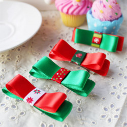 Baby Christmas Hair ClipsChildren Colorful Bowknot Hairpin
