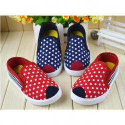 Baby Classic Style Star Stripe Canvas Shoes Toddler Boots