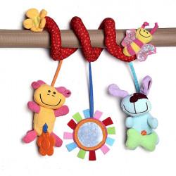 Baby Crib Hanging Bell Ring Puzzle Pram Bed Plush Toy