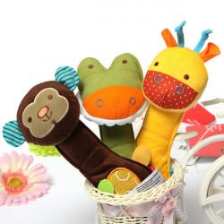 Baby Crib Rattle Soft Animal Handbell Development Toy