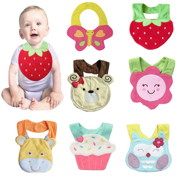 Baby Cute Cartoon Soft Saliva Towel Infant Lunch Bibs Baby & Mother Care