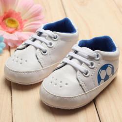 Baby Pige Drenge Blød Soles Fodball Soccer Sneakers Crib Sko