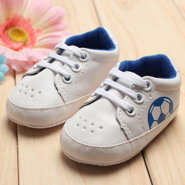 Baby Girl Boy Soft Soles Football Soccer Sneakers Crib Shoes Baby & Mother Care