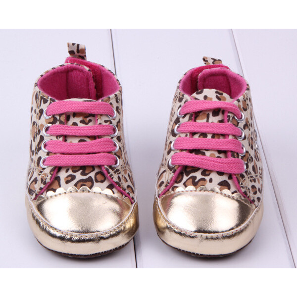 Baby Girl Leopard Pattern Decorated Princess Toddler Shoes Baby & Mother Care