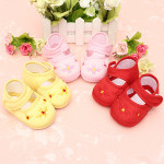 Baby Girl Toddler Pre-walkers Shoes Princess Velcro Floral Soft Sole Baby & Mother Care