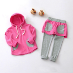 Baby Girls Casual Hooded Long Sleeve Top Pants Sets Baby & Mother Care