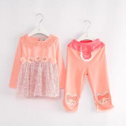 Baby Flicka Kläder Set Spring Fall Långärmad Suit