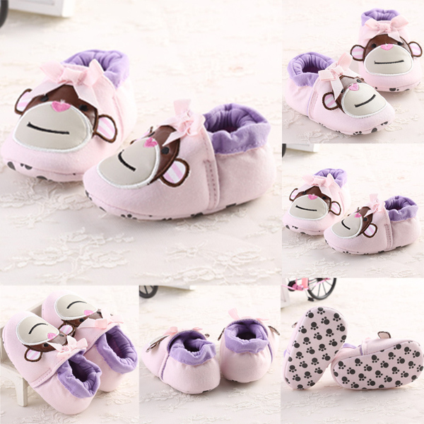 Baby Girls Cotton Monkey Soft Soled Elastic Crib Toddler Shoes Baby & Mother Care