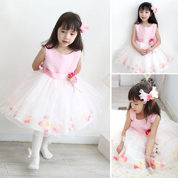 Baby Girls Flower Tulle Party Wedding Bridesmaid Pageant Dress Baby & Mother Care
