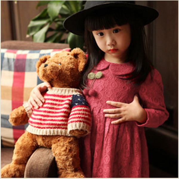 Baby Girls Lace Flower Dress Zip Button Casual Skirt Baby & Mother Care