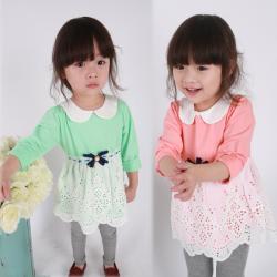 Baby Girls Long Sleeve Stitching Styles Princess Dress