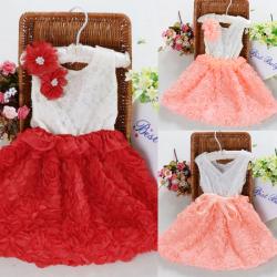 Baby Prinzessin Flower Kleid Festzug Partei Rock