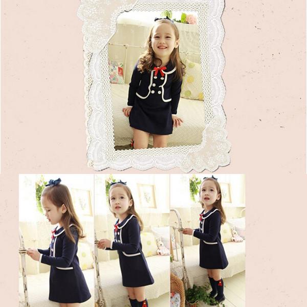 Baby Rock zweireihigen Kragen Party Kleid Baby Kinder & Mutterpflege