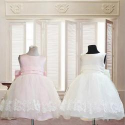 Baby Girls Sleeveless Bow Zipper Stitching Princess Dress