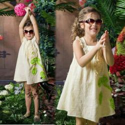 Baby ärmellose Blumenkleid Kausal Prinzessin Skirt