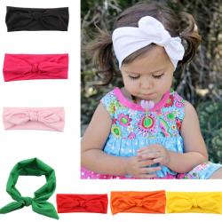 Baby Girls Stretch Headband Rabbit KnotBow Turban