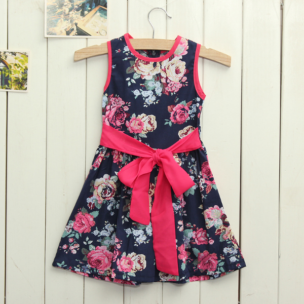 Baby Girls Summer Sleeveless Flower Casual Dress Baby & Mother Care
