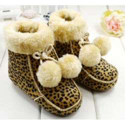 Baby Girls Warm Cutton Lined Suede Creep Boots Soft-Soled Shoes