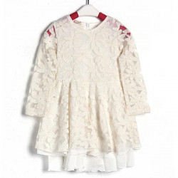 Baby Girls Wedding Party Lace Flower Full Dress Princess Skirts