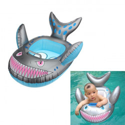 Baby Grey Shark Shape Inflatable Swimming Pool Seat Ring