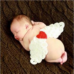 Baby Spädbarn Ängelvinge Virkade Kostym Photo Prop Kläder