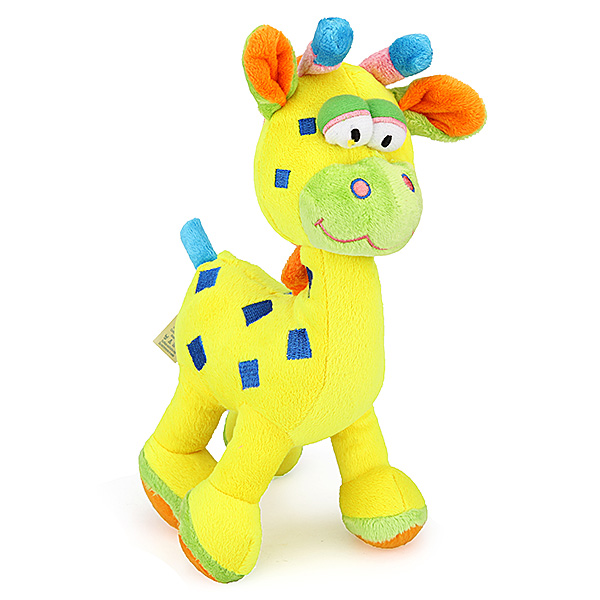 Baby Spädbarn Unge Djur Giraff Squeeze Sound Ring Plysch Leksak Docka Barnprodukter