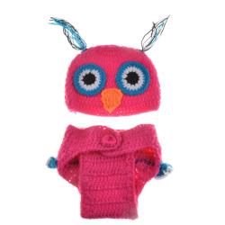 Baby Kind Eule Crochet Kostüm Fotografie Prop Bekleidung