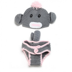 Baby Infant Pig Crochet Costume Photography Prop Clothes