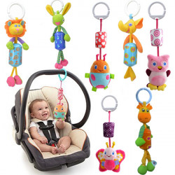 Baby Infant Plush Animal Stroller Music Hanging Doll Rattles Bell Toy