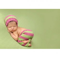 Baby Kind Streifen Crochet Kostüm Fotografie Prop Bekleidung