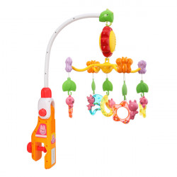 Baby Infant Toys Bed Crib Musical Hanging Bell Rotate Mobile Rattle