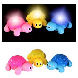 Baby Kid Lovely Crawl LED Child Animal Tortoise Music Llight Toy