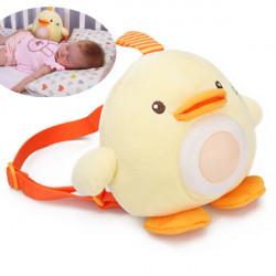 Baby Kind Musik Küken Rucksack Schlaf Nachtlicht Lampen Plüsch Spielzeug