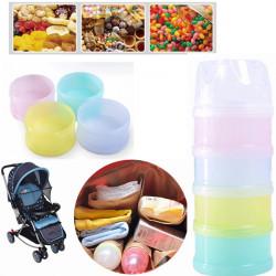 Baby Kids 4 Layers Milk Powder Case Bottle Dispenser Travel Feeding Container