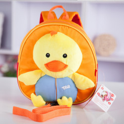 Baby Kids Cartoon Doll Chick Anti-lost Schoolbag Shoulder Bag