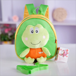 Baby Kids Cartoon Doll Frog Anti-lost Schoolbag Shoulder Bag