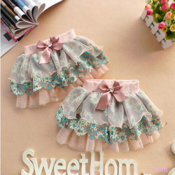 Baby Kids Girl Clothing Layer Casual Floral Gauze Tutu Skirt