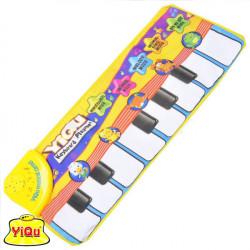 Bebis Barn Musikspel Matta Djur Finger Touch Elektronisk Piano