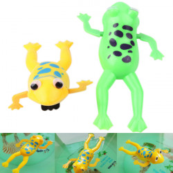 Baby Kids Plastic Swimming Clockwork Chain Frog Bath Toy