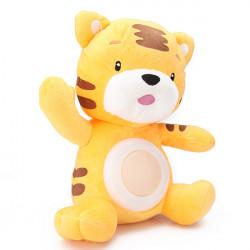 Barn Musikal Plysch Tiger Leksak Kid Sova Nattlampa Lampa Doll