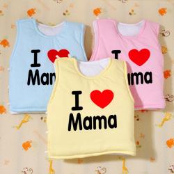 Baby Newborn Cotton Vest I Love Mama Warm Waistcoat