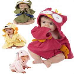 Barn Nighty Pyjamas Barn Småbarn Djur Tecknade Badrock Handduk
