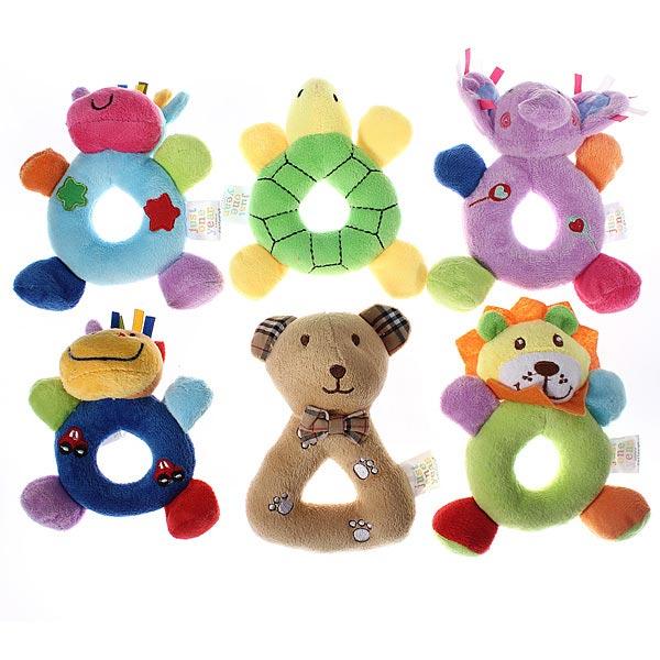 Baby Plush Blød Stuffed Dyr Model Hand Bell Wrist Rattle Børn  & Babyudstyr