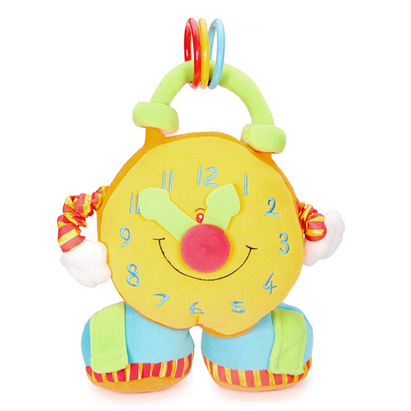 Baby Puzzle Alarm Clock Number Plush Muppet 0-12 Months Children Doll Baby & Mother Care