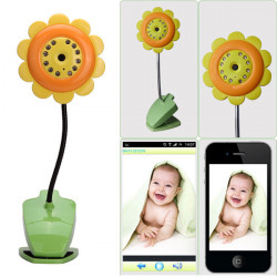 Baby Sikkerhed Blomst Wifi Kamera DVR Night Vision Mic Video Monitor