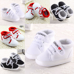 Baby Toddler Casual Crib Prewalker I Love Mama Papa Shoes