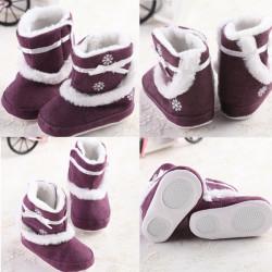 Bebis Småbarn Jul Snowflakes Stövlar Anti-slip Varma Skor