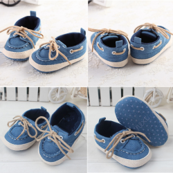 Baby Toddler Jean Shoes Soft Sole Elegant Prewalker