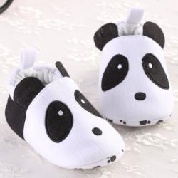 Baby Toddler Panda Elastic Soft Soled Cotton Crib Shoes